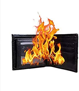 Doowops America Fire Wallet Black Color Magic Tricks Magician Card to Wallet Fire Magic Stage Street Illusions Gimmick Props Comedy