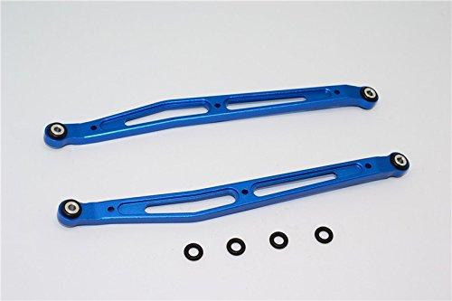 Axial SMT10 Grave Digger (AX90055) Upgrade Pièces Aluminium Front/Rear Upper Chassis Link Parts - 1Pr Set Blue