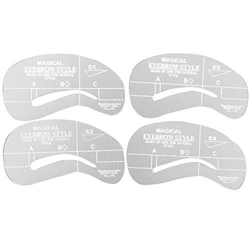Vococal® Modèle pour Brow Maquillage Kit Sourcils Toilettage Stencil