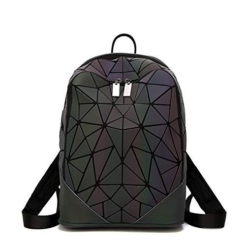 AimdonR Ling Grid Leuchtende Tasche , Geometrisch Leuchtend, PU Leder , Laser Macht Ihre Tasche bunter , Rucksäcke/Brieftasche/Handtaschen