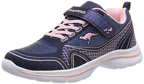 KangaROOS Unisex-Kinder KangaGirl EV II Sneaker, Blau (Metallic Blue/Frost Pink 4057), 35 EU