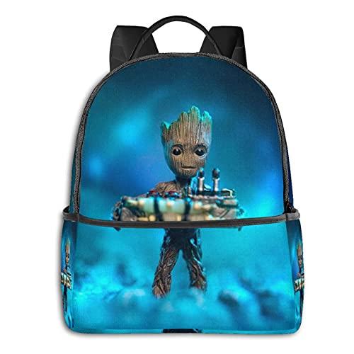 Groot - Mochila para bebé de superhéroe, informal, para la escuela, al aire libre, ligera, resistente al desgarro, mochila para portátil para niñas y adultos