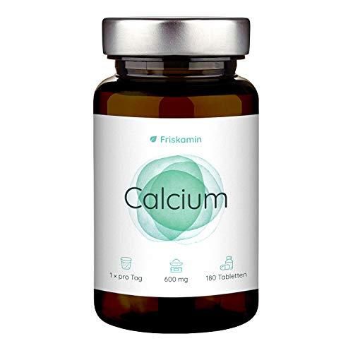 Calcium | 600 mg | 180 Tabletten für 6 Monate | Calciumcarbonat | in Deutschland hergestellt | Calcium Tabletten | Kalzium Tabletten