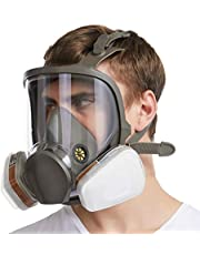 FIRMERS Gasmasker kemisk biologisk, fullt tätningsskydd gummi andningsmedel ögonskydd andas ofta använt i färgsprayer