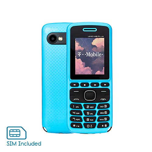 Unlocked 2G GSM Cell Phone - UNO M6 - Celular Desbloqueado - Dual SIM - Arrives with Blue Beat Digital SIM Card (T-Mobile) - Ready-to-Go - Great for Kids/Travel/Backup (Light Blue)