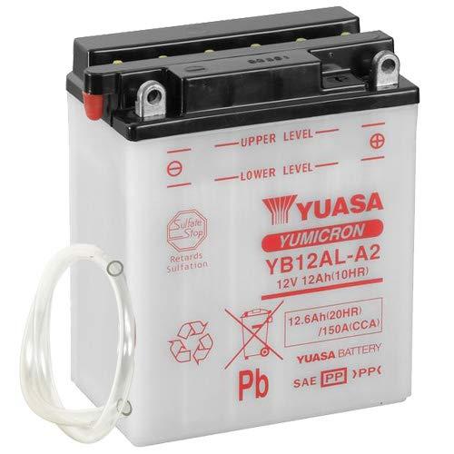 Batteria Yuasa YB12AL-A2, 12 V/12 AH (dimensioni: 136 x 82 x 162) per Aprilia Pegaso 650 i.e. anno di costruzione 2001