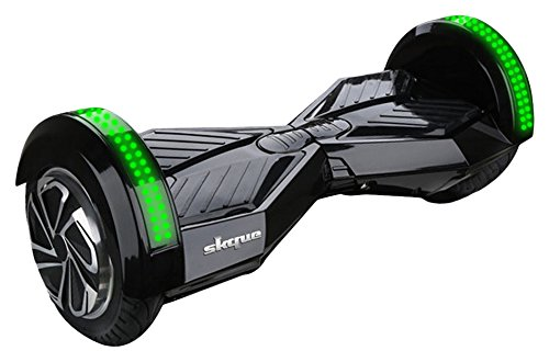Skque UL2272 Self Balancing Hoverboard with 8-Inch Smart Two Wheel and LED Lights (MAX 220 lbs)