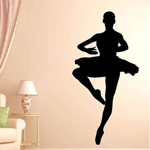 Ballerine Wall Decal Chambre Danse Stickers Muraux pour Dance Studio Art Decor 30X56Cm