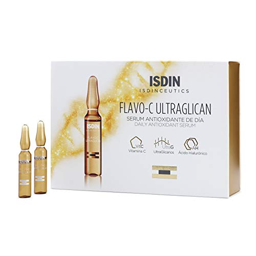 ISDIN Isdinceutics Flavo-C Ultraglican Serum Antioxidante con Vitamina C y Proteoglicanos | 30 x 2ml