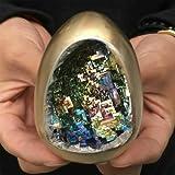 Decorative Stone Rainbow Bismuth Ore Egg Quartz Crystal Geode Mineral Specimen Reiki Healing 1Pc