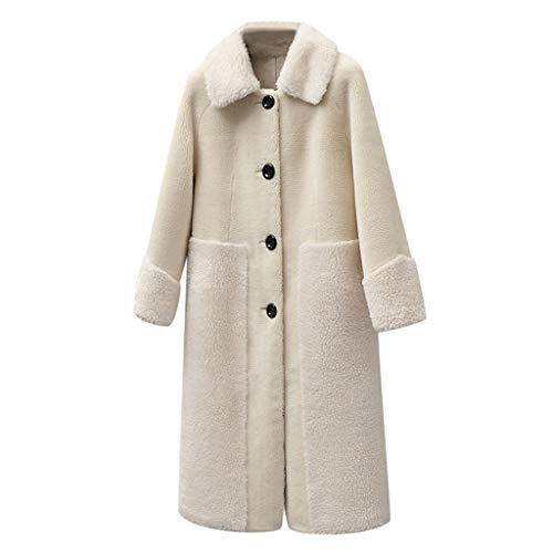 AIni Damen Elegant Festlich 2019 Neuer Winter Dame Warm Faux Splice Zipper Coat Jacket Oberbekleidung Party Abend Warm Coat Mäntel Jacke