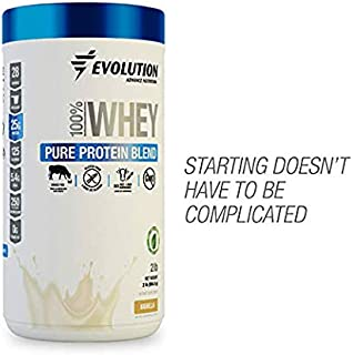 Evolution Whey Protein Powder Blend Grass Fed - 25 Grams of Protein Only 125 Calories - Gluten Produced by Ultrafiltration - Sweetened with Stevia - Hormones Free, Non GMO - (2 Pounds Vanilla)