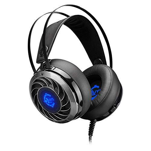 DBSCD Gaming Headset - Sonido Envolvente estéreo de 3,5 mm, Memoria Suave, Orejeras, micrófono para computadora portátil, Auriculares con Cable para Juegos PS4 (Color: Negro)
