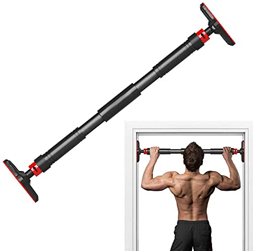 HOW (HOUSE OF WISHES) Pull Up Bar for Doorway, Heavy Duty Chin Up Bar for Door Frame, No Screws No Tools Locking Mechanism with Non Slip Sweat Absorbent Hand Grips, Supports 700 LBS,Adjustable