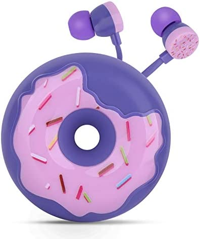 QearFun Donut Earbuds for Kids Cute Earbud in Ear Headphones Wired Gift for School Girls and product image