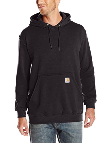 Carhartt Men's Midweight Hooded Sweatshirt,Black,Medium