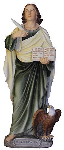 Veronese Collection Saint John The Evangelist Colored Resin Statue