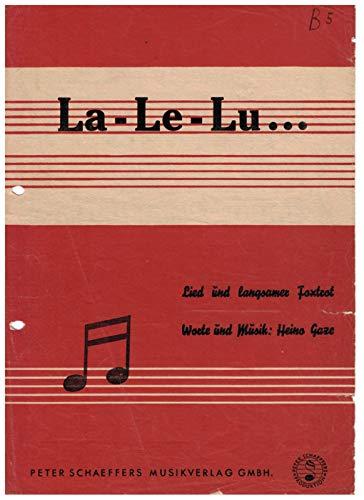 La-Le-Lu noten voor piano