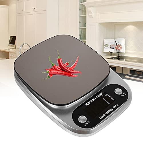 QIRG Báscula para Alimentos de Accesorios de Cocina, Báscula para Alimentos de Cocina, Pantalla LCD para el Hotel Restaurante de Tienda de Frutas en el hogar