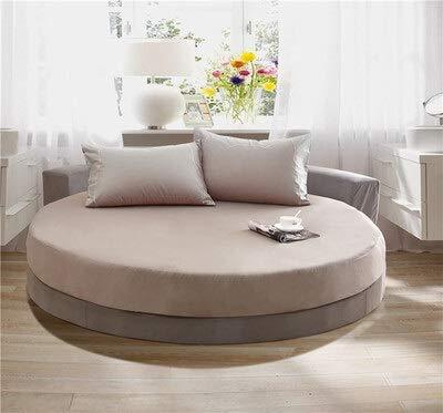 weichuang Sábana bajera elástica ajustable para el hogar, algodón redondo, funda de colchón para matrimonio, 200/220 cm,...