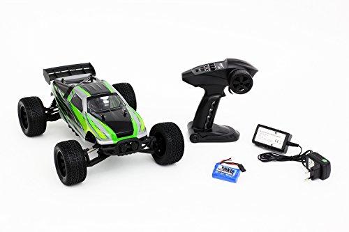 XciteRC 30405000 RC Auto Stadium Truck one12 - 2WD Ready to Race Modellauto, Karosserie 1:12 mit 2.4 GHz Fernsteuerung, grün
