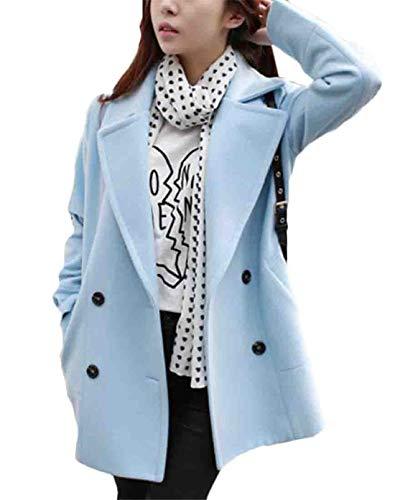 GRMO Women - Abrigo - Manga Larga - para Mujer Azul Azul Celeste US XL