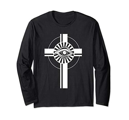 Rosicrucianism All Seeing Eye Cross Symbol - Rosicrucian Langarmshirt