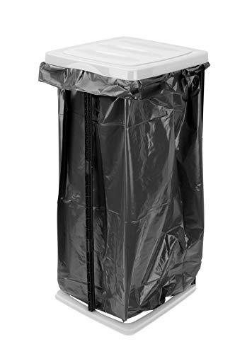 *Spetebo Müllsackständer in weiß – 60 Liter – Ideal für gelbe Säcke – Mülleimer Müllsackhalter Müllständer*