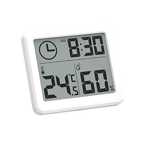 ONEVER Estación meteorológica Termómetro Interior Higrómetro Digital LCD C F Temperatura Humedad Medidor Reloj Despertador -10-70C