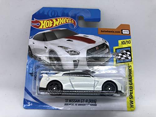 2020 Hot Wheels \'17 Nissan GT-R (R35) Gráficos de velocidad HW blanco metálico 137/250 (tarjeta corta)