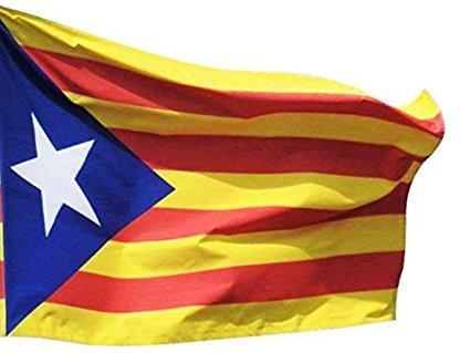 DURABOL Bandera de Inde.Catalan Estelada blava 150 x 90 Flag