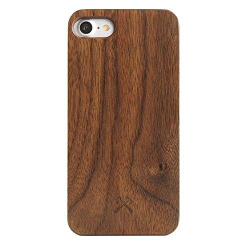 Woodcessories - Hülle kompatibel mit iPhone SE (2020) / 8/7 aus Echtholz - EcoHülle Classic (Walnuss/Schwarz)