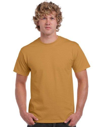 Gildan -T-Shirt Uomo-Donna Oro Oro - Old Gold M
