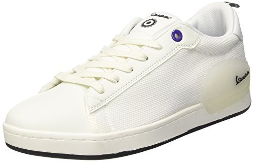 Vespa Unisex-Erwachsene Freccia Sneaker, Weiß (Bianco 10), 44 EU