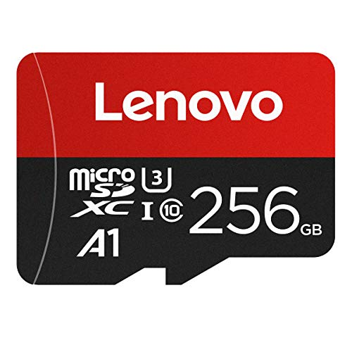 LENOVO 256GB Micro SD Card,Good Value for Nintendo Switch and Gopro Hero 8 Black U3 A1 MicroSDXC Card High Speed Up to 100MB/s UHS-I MicroSD Memory Card for Android Smartphone