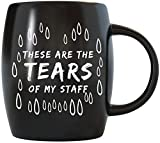 Funny Coworker Boss Gifts Tear Drops Tears of My Staff Office Humor World's Best Boss Joke Prank Coworkers Gift Idea for Christmas Birthday Novelty Ceramic Coffee Mug Tea Cup by Mug A Day