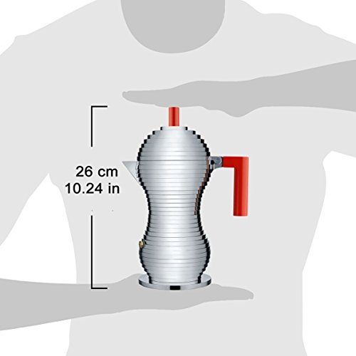 【正規輸入品】ALESSIアレッシィPulcinaエスプレッソコーヒーメーカー6カップ用/レッドMDL02/6R