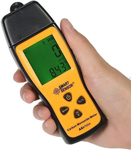 Medidor de monóxido de carbono portátil Analizador de detector de fugas de CO digital de alta precisión Rango 1000 ppm