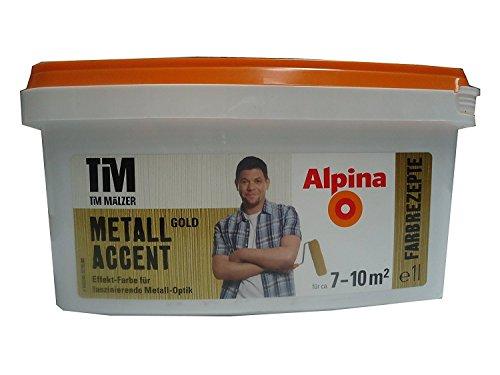 Alpina Farben Farbrezepte Kreativfarbe METALL GOLD