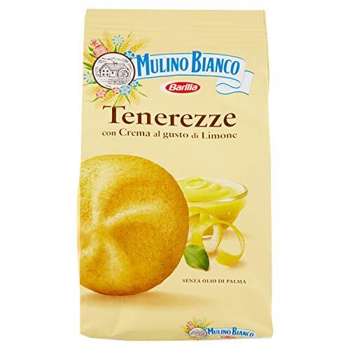 Mulino Bianco Biscotti Frollini Tenerezze con Crema al gusto di Limone, Colazione Ricca di Gusto, 200 gr