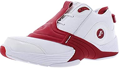 Reebok Answer V Mens Shoes Size 9.5, Color : White/Red