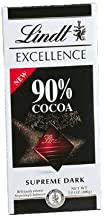 Lindt Excellence Chocolate Bar 90% Cocoa, 3.5-Ounce Bars (Pack of 12)