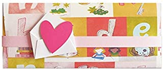 Porta soldi - bambina - primo compleanno - busta portasoldi (formato 22 x 9,5 cm) + biglietto d'auguri vuoto all'interno -...