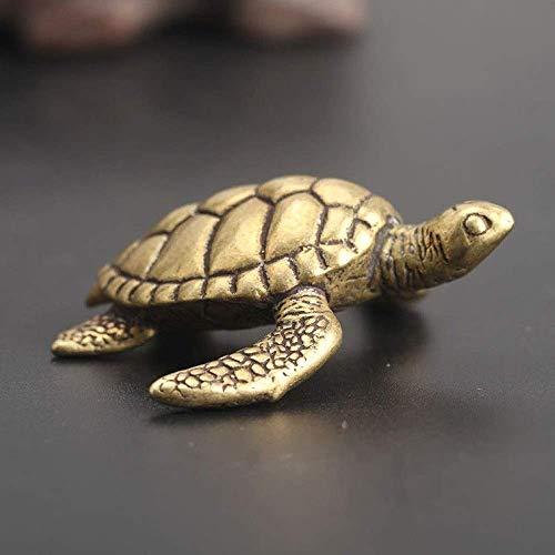 MEELLION Turtle Ornament, Feng Shui Statue, Kupfer Glücksschildkröte Handwerk, Tierheim Wohnzimmer Schreibtisch Dekoration Zubehör Love of a Lifetime