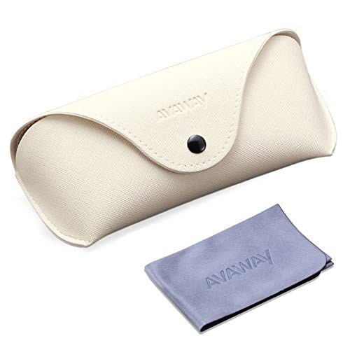 AVAWAY Custodia protettiva per occhiali da sole per uomini e donne con panno di pulizia