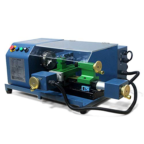 Purchase Portable Small CNC Lathe 100W 220V Aluminum Alloy Light Teaching Lathe G Code Processing Ma...