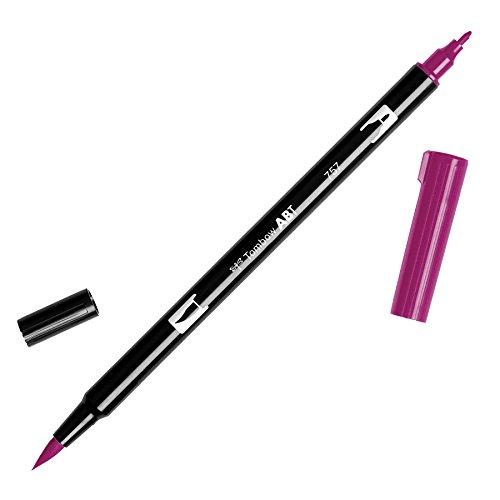 Caneta Tombow Dual Brush Pens Port Red Abt757