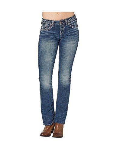 Silver Jeans Women's Suki High Rise Bootcut Jean, Indigo, 27x31