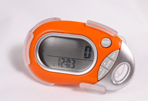 Pedusa PE-771 Tri-Axis Multi-Function Pocket Pedometer (Orange with Holster/B.