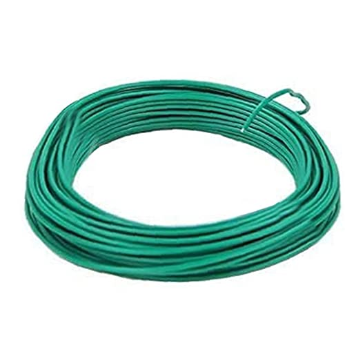 XKJFZ Jardín Planta Recubierto Bobina de Cable Trenzado Corbata de Lazo Suave Soporte para fijación de Bricolaje Planta trepadora Bonsai Tiesto, Herramientas de jardín